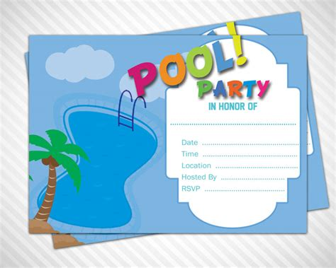 Free Pool Invitation Template pool invitations templates free gangcraft net