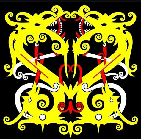 tato muka dayak mengenal motif khas suku dayak kaskus