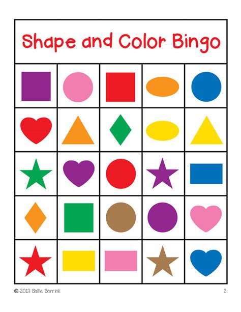 printable shapes colors search results for christmas bingo games free printable