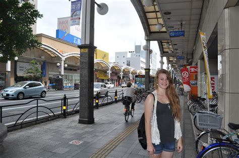 Tara in downtown iwakuni the arched sidewalk roofs mimic the arches