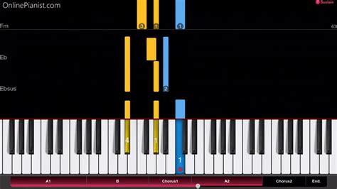 tutorial piano nuvole bianche ludovico einaudi nuvole bianche easy piano tutorial