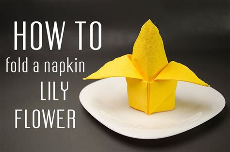 How To Fold A Paper Napkin To Hold Silverware - learn how to fold a napkin into a flower from a paper