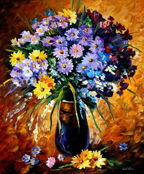 Amazing Flower Paintings Leonid Afremov Lavagirl24