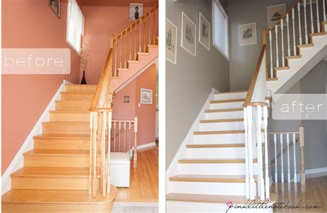 oak banister makeover ordinary oak to simply white my staircase reveal