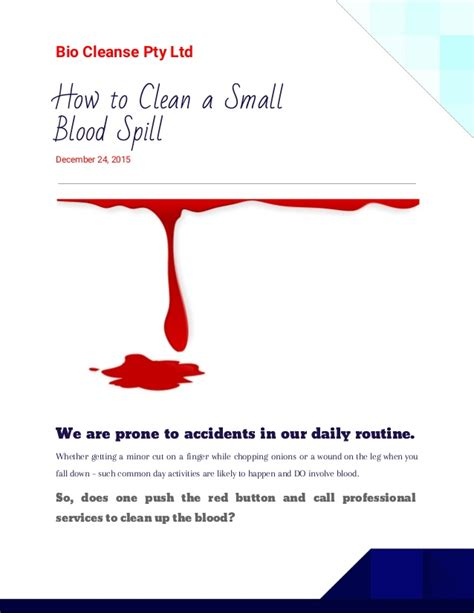Detox Drops Pty Ltd by How To Clean A Small Blood Spill