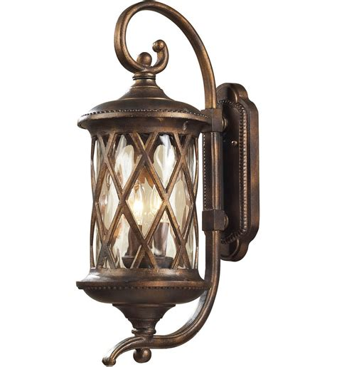 Lighting Wall Sconces Elk Lighting 42031 2 Barrington Gate Hazelnut Bronze 9 Inch 2 Light Outdoor Wall Sconce