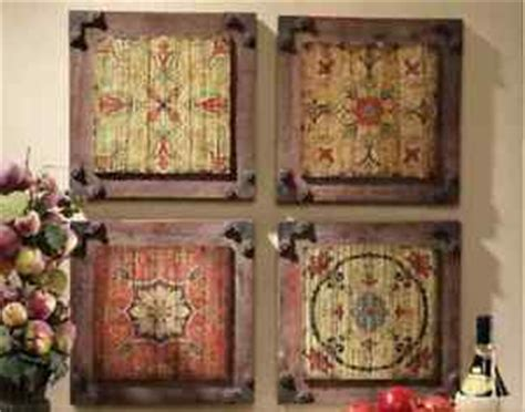tuscan old world set of 3 large plaques with crosses metal shield wall plaque tuscan flower old world medieval