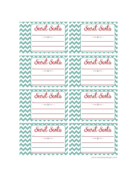 Secret Card Template by 4 Best Images Of Printable Secret Santa Cards Printable