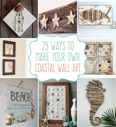 Ocean Themed Home Decor by 29 Beach Crafts Coastal Diy Wall Art