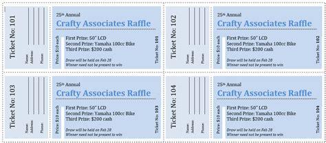 raffle ticket template 5 free printable templates word