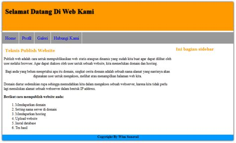 membuat layout html dengan div membuat design layout website dengan tag div my personal