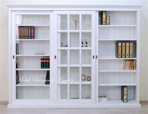 libreria con ante libreria con ante librerie in legno massello