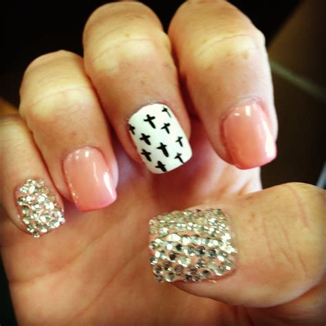 cross pattern nails acrylic nails cross designs images
