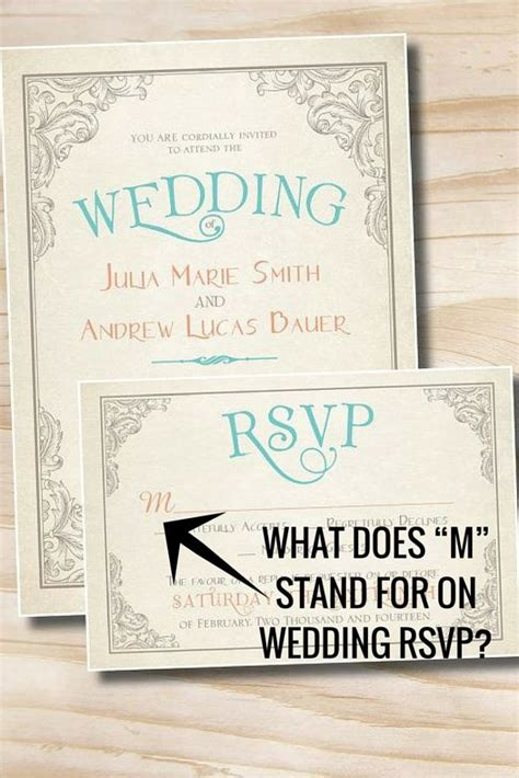 what does quot m quot stand for on wedding rsvp