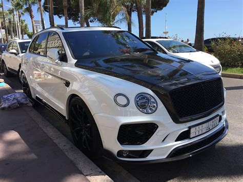 bentley white and black mansory bentley bentayga spotted looking all black