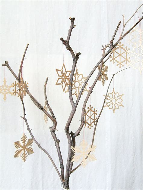 delicate wooden snowflake christmas tree ornament