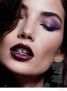 the story of makeup aldridge wears fall makeup looks for cover story of