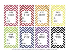 free printable happy birthday tags and cards paper crush