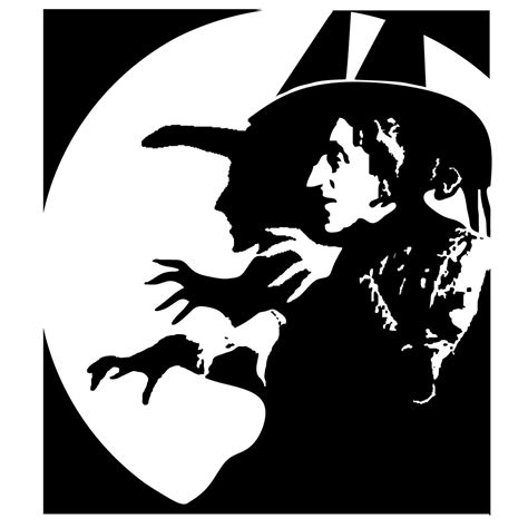 printable pumpkin stencils witch wicked witch 4x4 inch laser cut stencil www etsy com shop