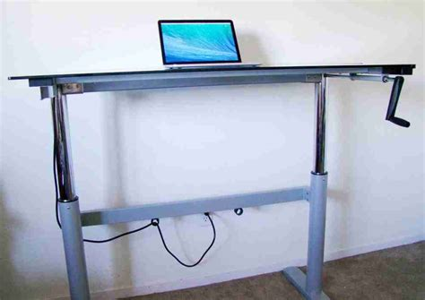 Diy Adjustable Standing Desk Diy Adjustable Height Desk