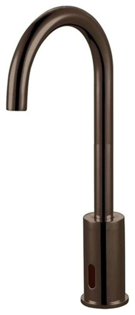 oil rubbed bronze sensor faucet bathroom and kitchen faucet shop houzz bath select oil rubbed bronze wella goose