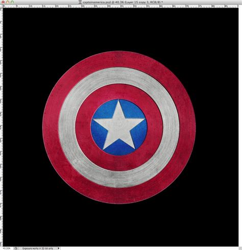 Captain America Shield In Photoshop Captain America Shield Color