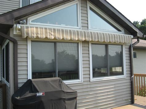 perfecta awnings perfecta retractable awning with a hand crank retracted