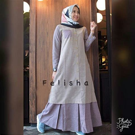 Gamis Remaja Instagram Baju Gamis Remaja Felisha Maxi Busana Muslim Modern