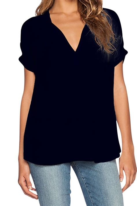 black patchwork white v neck tank asymmetrical chiffon simple v neck sleeves asymmetrical black polyester pullover blouses shirts top