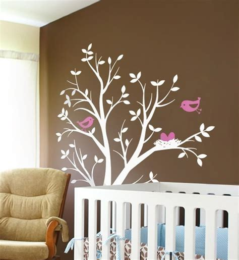 brown tree wall decal nursery maravillosas ideas para la decoraci 243 n de la pared para
