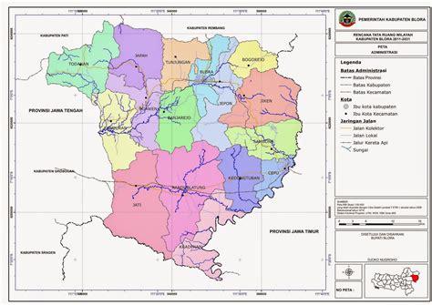 Fiforif Asli Di Tangerang Selatan berkas peta addministrasi kabupaten blora