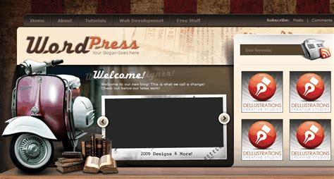 wordpress themes quirky 33 free creative and unusual wordpress themes designbeep