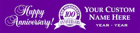 Happy 100th Anniversary Neiman by Anniversary Banners Signs Decorations For Anniversaries