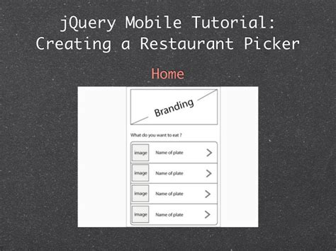 tutorial for jquery mobile jquery mobile 最新情報 tips