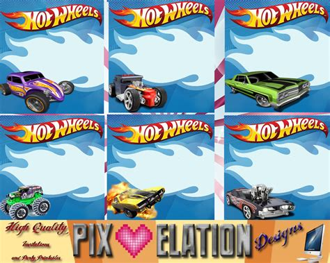 Hot Wheels Invitations Template   printable templates free