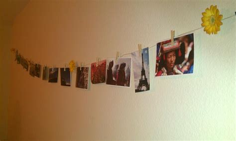 hang pictures on wall 5 study abroad dorm room crafts her cus