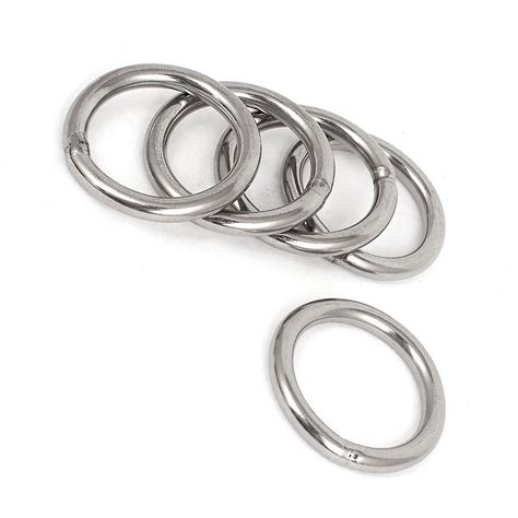 O Ring Stainless 8x50mm Welded Stainless Ring 40mm x 5mm stainless steel webbing strapping welded o