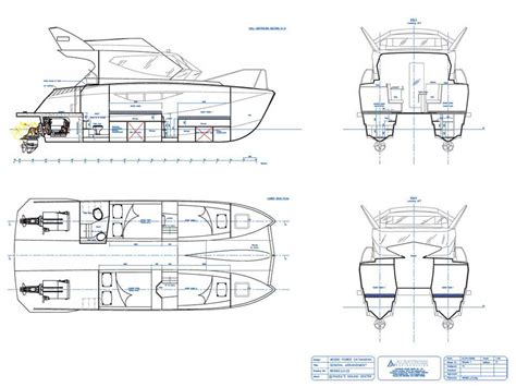 power catamaran drawings warrior 30 power catamaran 9 90 mts