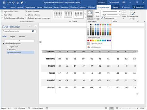 word tabelle löschen come aggiungere uno sfondo alle tabelle di word pc