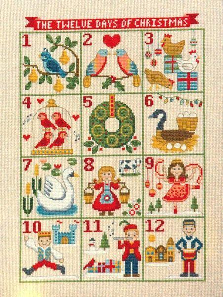 modern twelve days of christmas twelve days of cross stitch pattern stitched modern