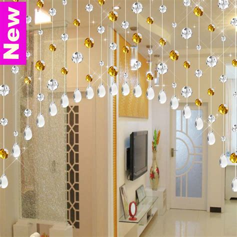 crystal door curtain quality crystal beaded curtain sheer door window curtains