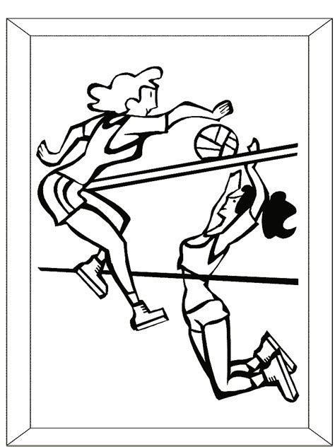 coloring pages of a volleyball player volleyball coloring pages
