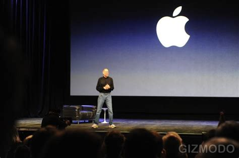 steve jobs takes  stage  magical  revolutionary  product cult  mac