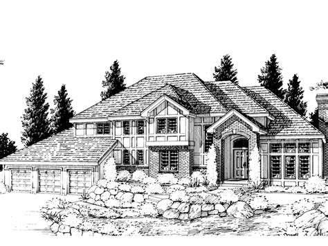 Multi Level House Plans Gildford Tudor Multi Level Home Plan 015d 0194 House