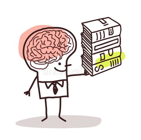 Man With Big Brain And Books Stock Vector Illustration Big Brain Pricing