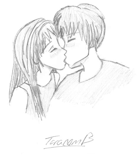 anime couples kissing sketches the gallery for gt anime couples kissing drawings in pencil
