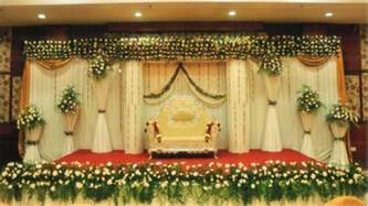 simple wedding stage decoration at home