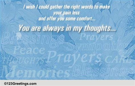 condolences words of comfort words of comfort free sympathy condolences ecards
