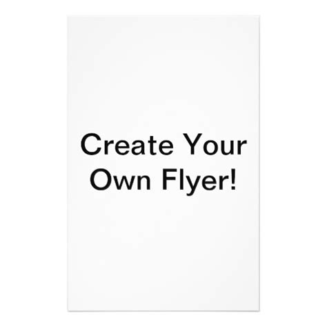 design your own template create your own 5 5 quot x 8 5 quot flyer zazzle