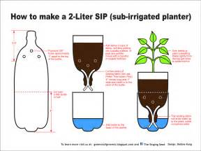 how to make a sub irrigated planter sip from a 2 liter